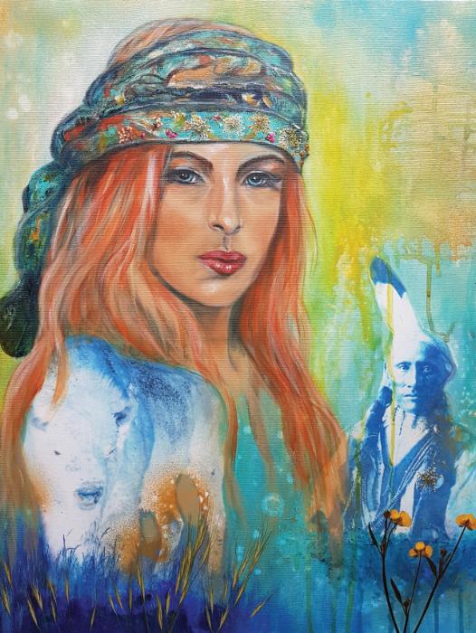 Boho Lady White Buffalo ©Monika Schmitt