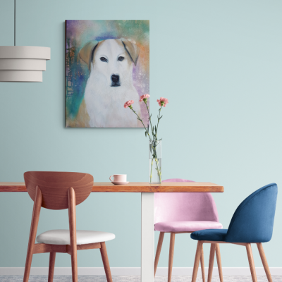 Auftragsmalerei Hundeporträt - © Monika Schmitt