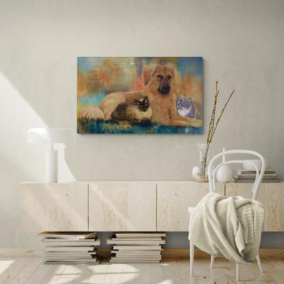 Hund und Katzen -- © Monika Schmitt