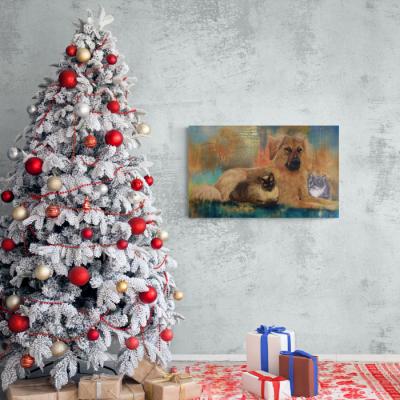 Hund und Katzen Christmas © Monika Schmitt